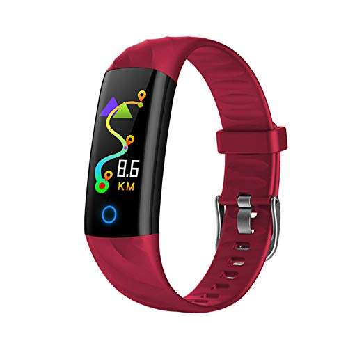 JXFF S5 Ladies Smart Watch Ritmo Cardíaco Monitor De Presión Arterial A Prueba De Agua Smartwatch Deportes Actividad Pedómetro Tracker Aptitud Pulsera para Android iOS,D