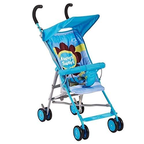 Affordable ZXCVB Baby Stroller Summer Portable Folding 4 Wheel Shock Absorber Ultralight Pushchair B...