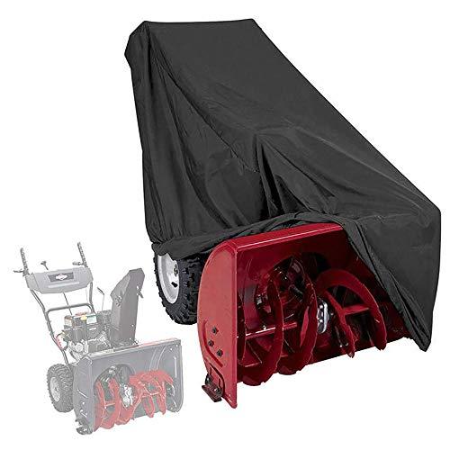 TTAototech Schneewerferabdeckung - Hochleistungspolyester, wasserdicht, UV-Schutz, Universalgröße für die meisten elektrischen zweistufigen Schneefräsen mit Tragetasche 47 * 32 * 40 Zoll