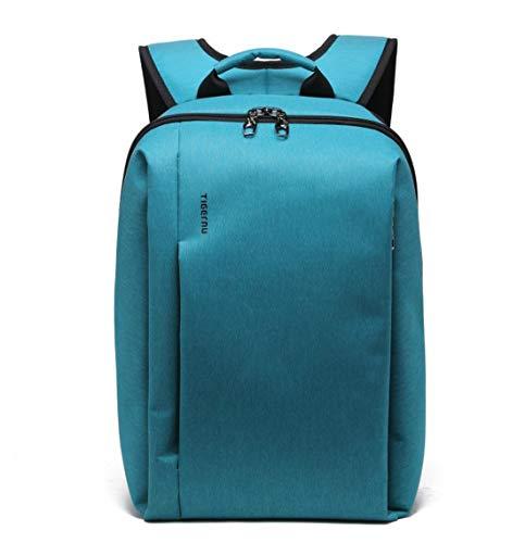 Slim Nylon Laptop Rugzak Canvas Rugzak Reizen voor 17 inch Laptop (Blauw)