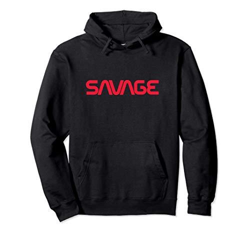 Savage Industries Red Space Logo Sudadera con Capucha