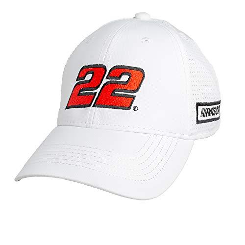 Ouray Sportswear NASCAR Men's Cool Breeze Joey Logano, White, Adjustable