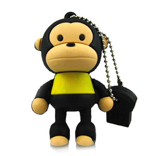 No10400010016 CHIAVETTA USB 16GB FLASH PENDRIVE ANIMALI SCIMMIA APE MARONE