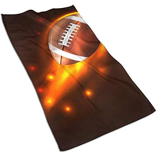 Asciugamano per capelli in microfibra Football americano in fiamme, ottimo per esercizio yoga di partito, asciugamano ad asciugatura rapida, asciugamano sportivo, asciugamani da bagno, 40 x 70 cm