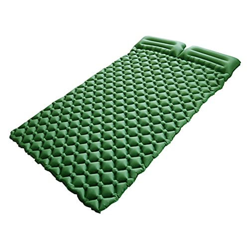 Aing Store Pad Dormire all'aperto con Cuscino 2 Persona Gonfiabile Campeggio Air Materassino Materasso a Letto Materasso Adatto per Tenda Escursionismo Trekking (Color : Green)