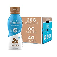 HIGH QUALITY, TRULY GRASS FED PROTEIN DRINKS: each ICONIC protein shake boasts 20 grams of complete protein from grass fed whey and casein to fill you up without slowing you down DELICIOUS READY-TO-DRINK SNACK OR HEALTHY BREAKFAST: ICONIC protein dri...