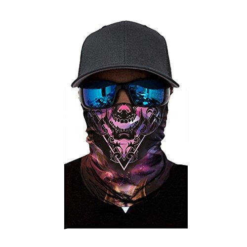 KPILP Multifunktionstuch Lustig Skull Kopftuch Halstuch 3D Nahtloses Sport-Halstuch UV-Schutz Bandana Stirnband Outdoor Schal für 10 Tragevarianten