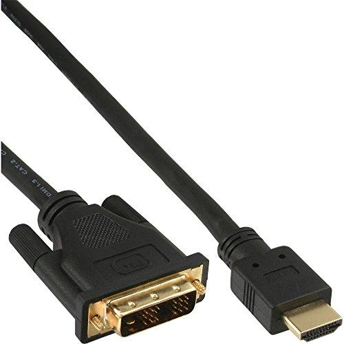 m HDMI-DVI Kabel, InLine®, vergoldete Kontakte, 19p (17665P) 5 m