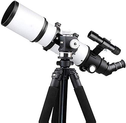 SEESEE.U Telescopio Refractor de 80 mm con Visor de trípode, con visión Nocturna con Poca luz, Duradero, con Adaptador para Smartphone, Mochila y Filtro Lunar