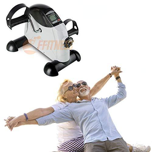 Ffitness FMMB408B Cyclette Pedaliera da casa - Riabilitativa, Ginnastica ATTIVA, per anziani, riabilitazione infortuni | Bici Da Casa Easy Belt Bike Home Gym Braccia Gambe, Bianco