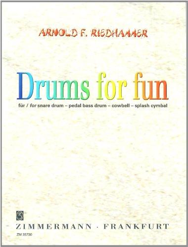 Drums for fun: Trommel-Set (Militärtrommel, pedal große Trommel, cowbell, splash Becken).