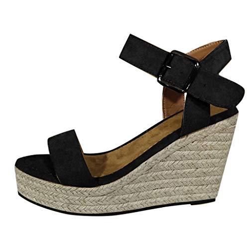 Sandale Femme Espadrille Plateforme Compensé Chaussure Pas Cher Alaso Lanière Cheville Escarpins Femmes d'été Plage Vacances Loisirs Taille 35-43