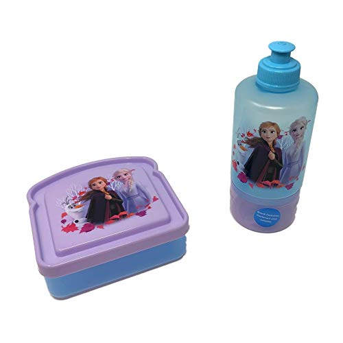 Frozen II Anna & Elsa Sandwich Container & Water Bottle with Snack container