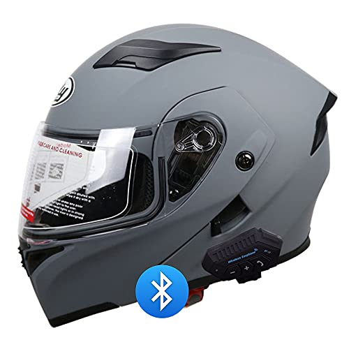 BDTOT Motorcycle Modular Helmet Bluetooth Full Face Motorcycle Helmet DOT/ECE Approved Anti-Fog Double Visor Motorbike Locomotive Helmet With Microphone Noise-Free Automatic Answering