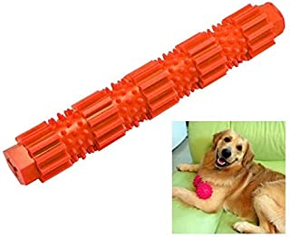 Pet Toys Dog Chew Toy Durable Molar Rod TPR Chew Toys For Aggressive Chewers Training, 1pcs, Size:L (Color : Orange)