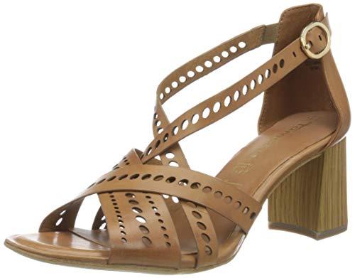 TAMARIS Damen 28052-34 Sandale mit Absatz, Cognac,39 EU