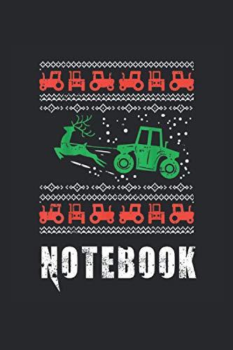 Notebook: Bauer mit Traktor, Bauernhof Weihnachten Notizbuch. Ein Taschenbuch A5 mit 108 karierte Seiten. Ein Weihnachtsmotiv für Landwirte, Bauern, ... Männer, Mädchen und Jungen. Cooles Motiv.