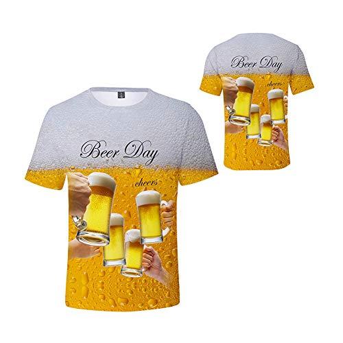Scopri offerta per weiwei Maglietta Ragazzo Ragazze Manica Corta Casual Camicia Stampa 3D Birra T-Shirt Estiva Camicie Top,Tall 160cm