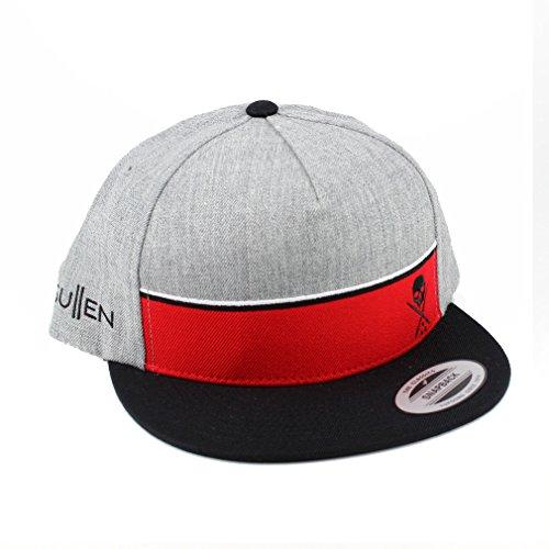 Sullen Clothing Snapback – Casquette Stripe Gris Rouge Casquette de baseball