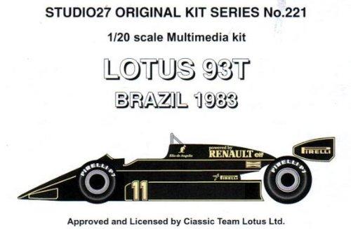 LOTUS 93T GP of Brazil 1983 (Resincast model)