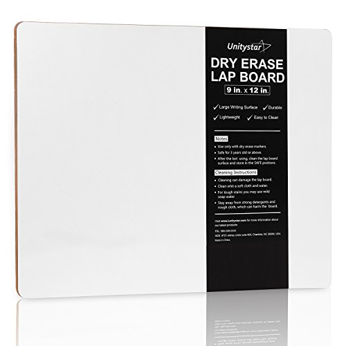 UnityStar White Board, 9 x 12 inches Dry Erase Board Portable Small Whiteboard for Classroom Students Kids Teachers Writing Drawing Travel, Single-Sided, 0.4lb