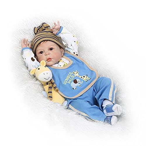 ALLWIN Muñecas Bebe Reborn 22 Pulgadas Vinilo De Silicona Suave Real Life 57Cm Toddler Baby Juguetes para Bebés Recién Nacidos Lindos Hechos A Mano para Mayores De 3 Años Niños Niñas Niños