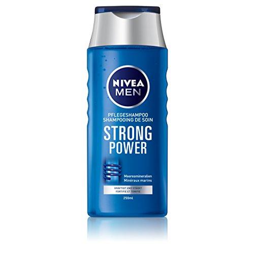 NIVEA Men 4er Pack Haar-Pflegeshampoo für Männer, 4 x 250 ml Flasche, Strong Power