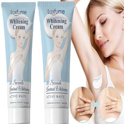 2 bottles of Whitening Cream, Bleaching Cream, Body Cream for Armpit, Knees, Elbows, Sensitive and Private Areas ,60ML