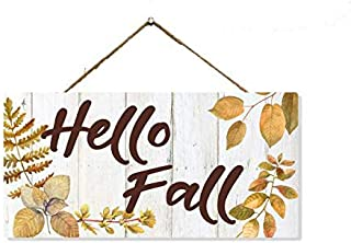 Chico Creek Signs Hello Fall Autumn Fall Rustic Looking Solid Pine Wood Sign Wall Décor Gift SP-05100001007