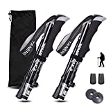 YIKETE 2 Pack Walking Trekking Poles,Quick Lock System, , Telescopic, Collapsible, Lightweight for...