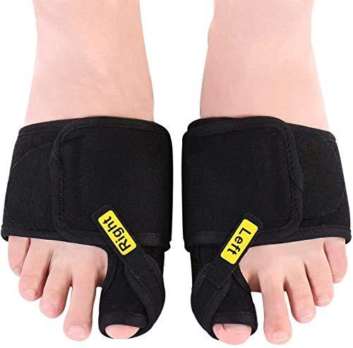 MAVIS LAVEN Correctores de juanetes, 1 par de separadores de alisadores de Dedos gordos ortopédicos Suaves Ajustables para férula de juanete