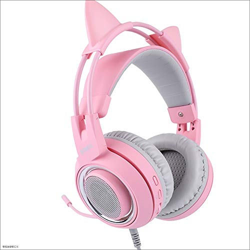7.1 Cat-Ohr-Spiel Kopfhörer für Computer-Gaming-Headsets mit Mikrofon weichen Speicher Ohrenschützer
