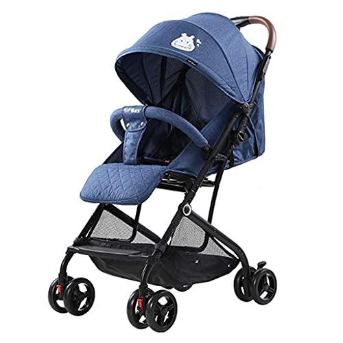 El cochecito ligero del carro de bebé reduce la carga de MotherRsquo; s urgiendo para salir, cochecito de cuatro ruedas amortiguador, cuna móvil, plegado de una tecla, cinturón de seguridad de cinco p