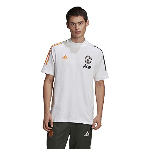 adidas Manchester United Temporada 2020/21 MUFC tee Camiseta, Unisex, tieley, S