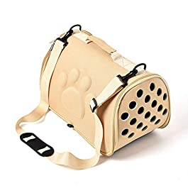 Collapsible Dog Carrier Backpacks Pet Travel Carrier Cage Adjustable Dog Out Bag Portable Diagonal Cross Breathable