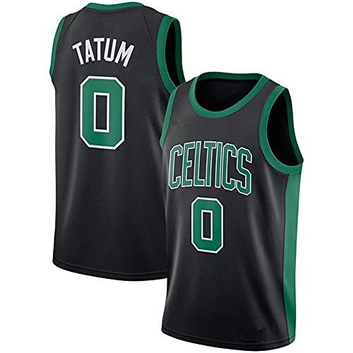 Camiseta de Baloncesto para Hombre Celtics No.0 Jersey Camiseta Negra de Manga Corta Chaleco Informal Camisetas, XL