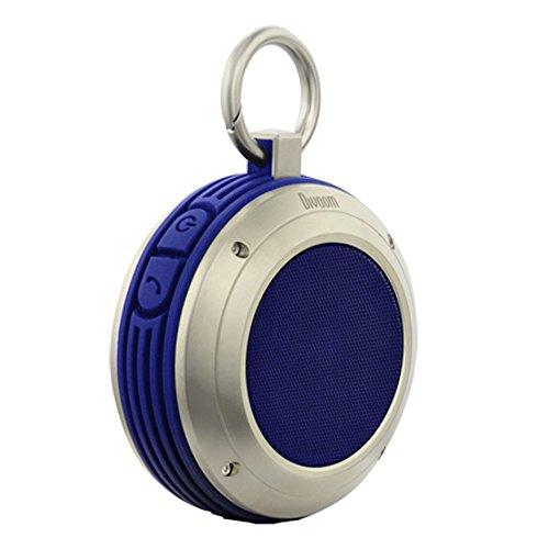 Divoom Voombox Travel, robuster Bluetooth Lautsprecher, spritzwasser- und staubgeschützt mit 4 Watt und Telefonfunktion - Blau