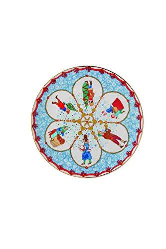 Hutschenreuther 02476-727312-10862 Weihnachtsmarkt 22 cm Teller, Porzellan