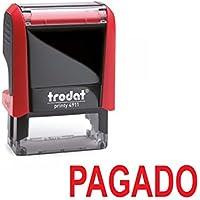 Sello entintado automático PAGADO – TRODAT Printy 4911 – Tinta roja última generación