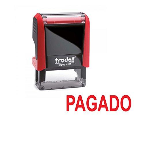 Automatischer Stempel PAGADO – Trodat Printy 4911 – rote Tinte der neuesten Generation
