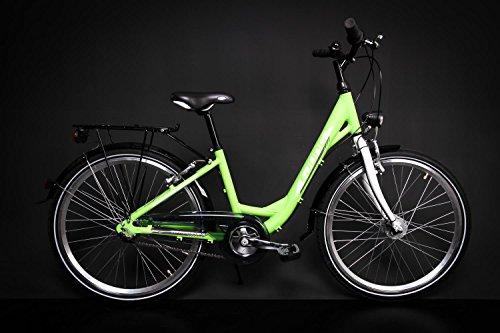"24\"" Zoll Alu MÄDCHEN Fahrrad City Bike Shimano Nexus 3 Gang Nabendynamo grün"