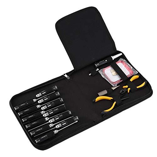 1 Set 18 en 1 RC Herramientas Kits Destornilladores Alicates Hex Socket Down Socket Caja de reparación for Reparar Aviones RC, Juguetes Modelo de automóvil