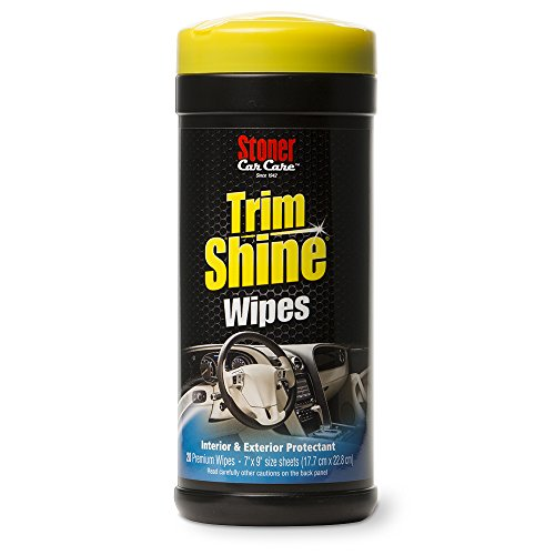 Stoner Car Care 90034 28-Count Trim Shine Protectant Wipes Automotive Restore Dull or Faded Interior and Exterior Trim, Vinyl, Plastic, Rubber and More