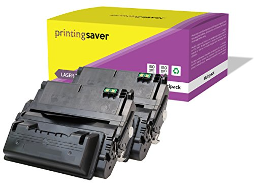 2X Printing Saver SCHWARZ Toner kompatibel für HP Laserjet 4200, 4200DTN, 4200DTNS, 4200DTNSL, 4200L, 4200LN, 4200LVN, 4200N, 4200TN drucker