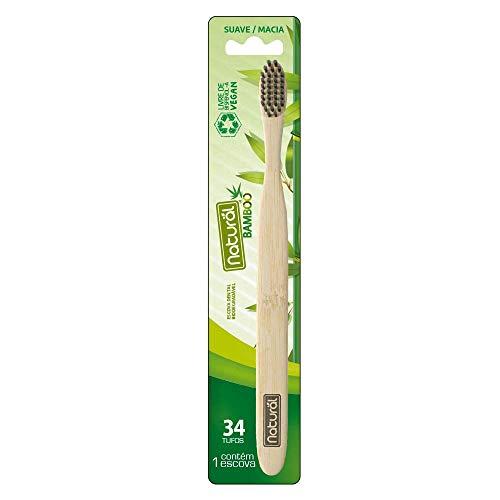 Escova Natural Bamboo 34 Tufos Cerdas Macias, Suavetex