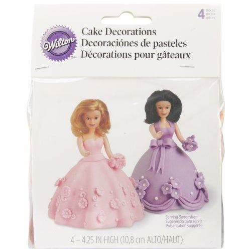Wilton - Juego de 4 Palillos para Tarta, diseño de muñecas