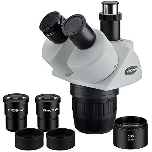 AmScope SW13TY 10X-15X-30X-45X S-per Widefield est-reo trinocular microscopio Head