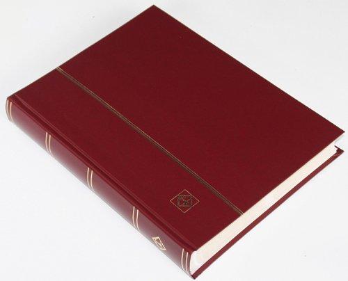 64 weiße Seiten LEUCHTTURM Einsteckbuch Briefmarkenalbum Einband weinrot