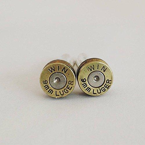 Winchester 9mm Bullet Max 51% Ranking TOP20 OFF Shell Cufflinks Brass Cuff - Casing