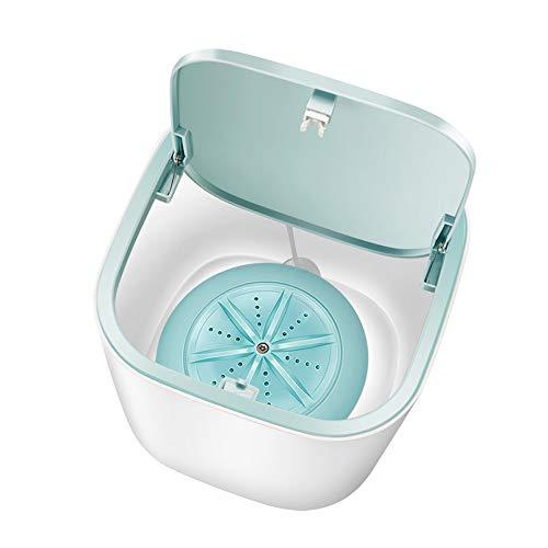 Zvivi Verbesserte Mini Ultraschall-Waschmaschine Faltbare Bewegliche Waschmaschine Eimer USB Und Plug Convenient Wäscherei Für Camping Dorms Geschäftsreise Und Kinder Wäscherei,Blau